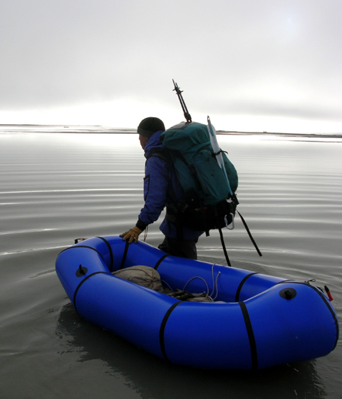 Alpacka Packraft on Arey Lagoon